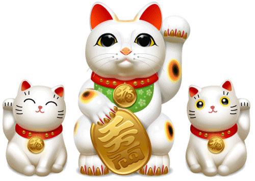 Các vật mang biểu tượng may mắn của người Nhật