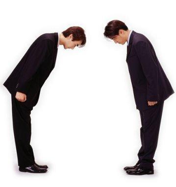 Cúi đầu để bày tỏ sự tôn trọng người khác