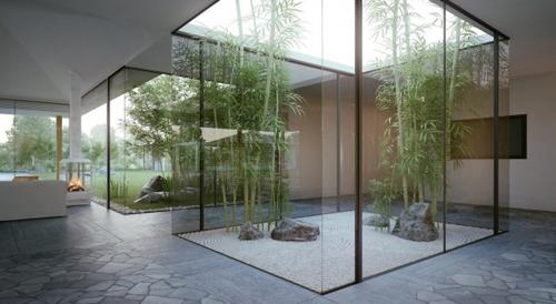 Không cứ gì không gian lớn mới thiết kế nên khu vườn đẹp.