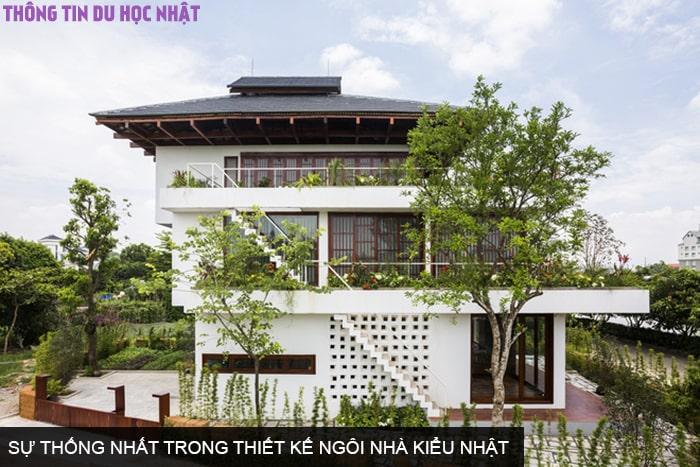 Sự thống nhất trong thiết kế ngôi nhà kiểu Nhật