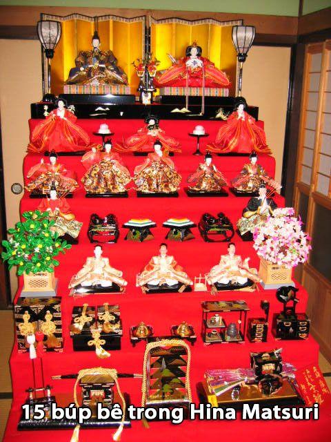 15 búp bê trong Hina Matsuri