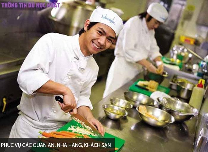 Phục vụ các quán ăn, nhà hàng, khách sạn