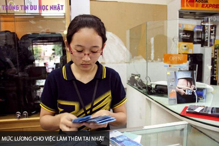Mức lương cho việc làm thêm tại Nhật