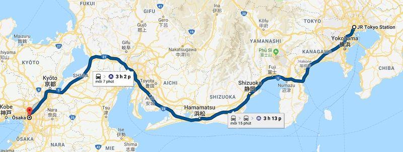 Tuyến tàu cao tốc Tokaido Shinkansen từ Tokyo đến Osaka