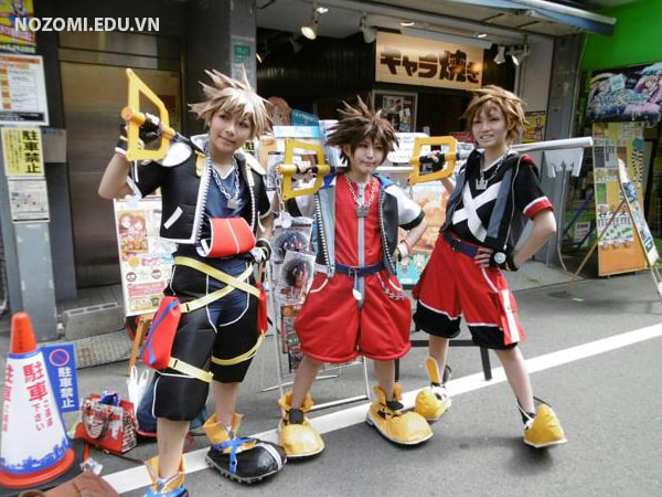 Các nhân vật cosplay tại lễ hội