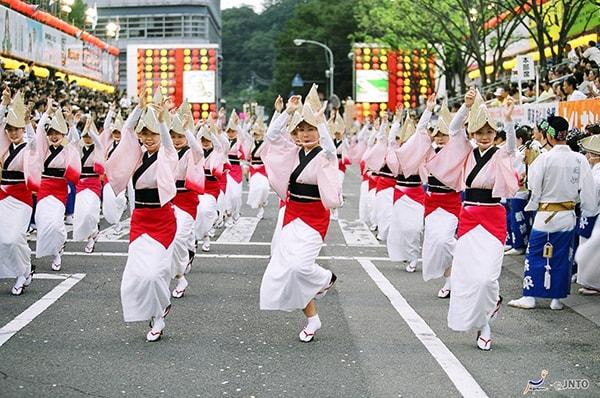 Lễ hội mùa hè Nhật Bản Awa Odori Matsuri