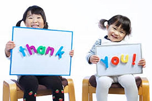 Dạy trẻ biết nói lời cảm ơn