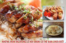 Những món ăn trong lễ hội Obon có thể bạn chưa biết