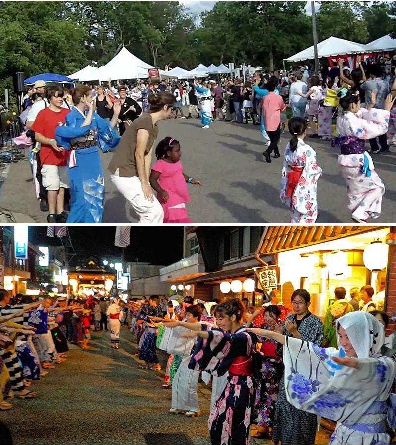 Trong tuần lễ Obon rất nhiều hoạt động được tổ chức