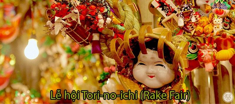 Lễ hội Tori-no-ichi (Rake Fair) tại Đền Otori, vùng Kanto