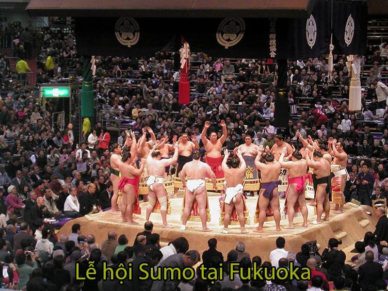 Lễ hội Sumo tại Fukuoka kéo dài 15 ngày giữa tháng 11