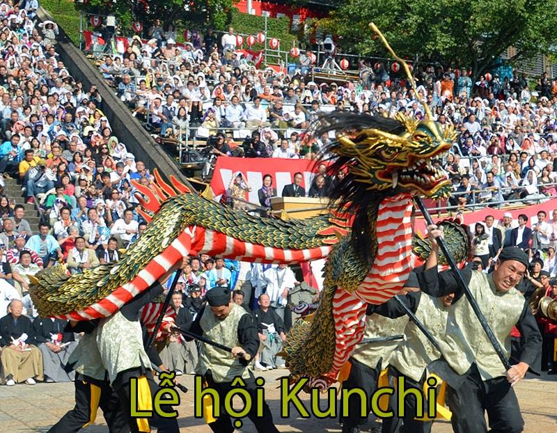Lễ hội KunchitạiĐền Suwa ở Nagasaki - lễ hội múa rồng