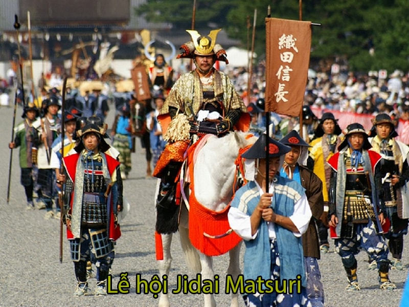 Lễ hội Jidai Matsuri tạiĐền Heian, Kyoto kéo dài khoảng 2km