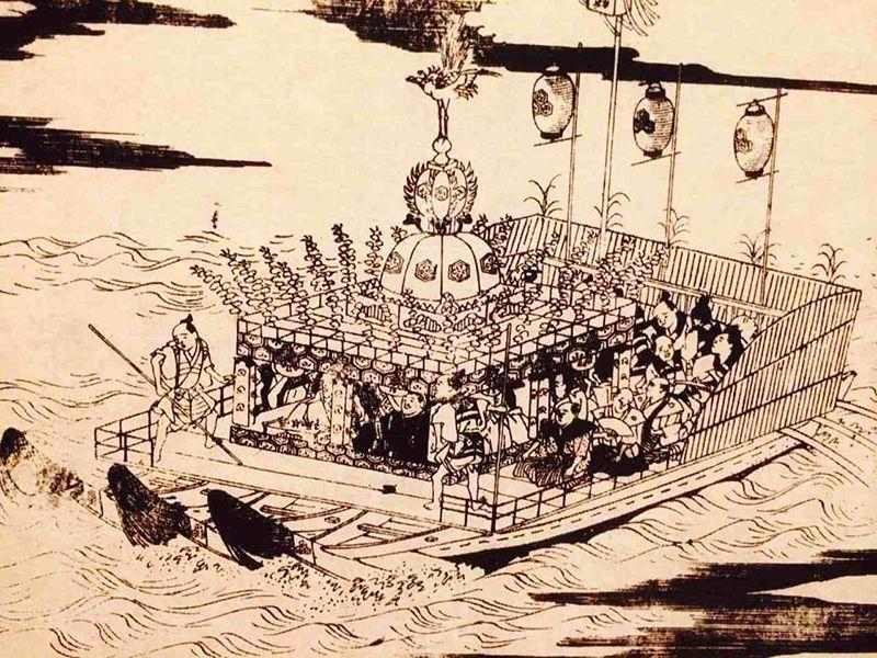 Lễ hội Kangensai được tổ chức lần đầu vào thời lãnh chúaTaira-no-Kiyomori