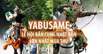 Lễ hội bắn cung Nhật Bản Yabusame vào mùa thu