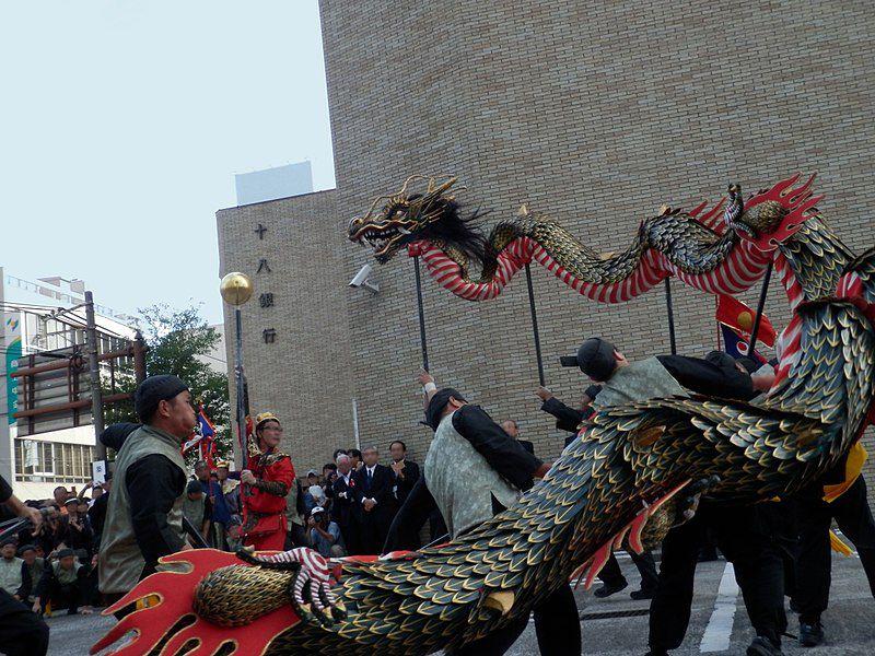 Những nét mang màu sắc văn hóa Trung Hoa tại Nagasaki Kunchi
