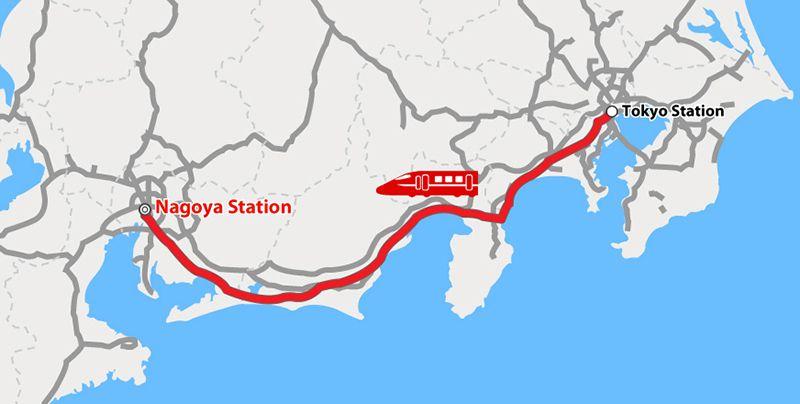 Tàu Shinkansen từ Tokyo đến Nagoya