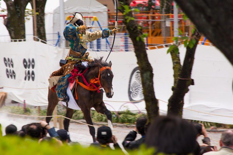 Cung thủ trong lễ hội Yabushame