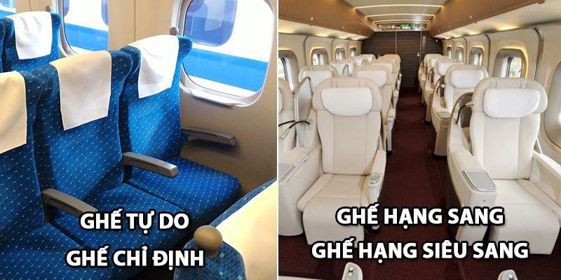 Sự khác biệt giữa ghế bình thường và ghế hạng sang