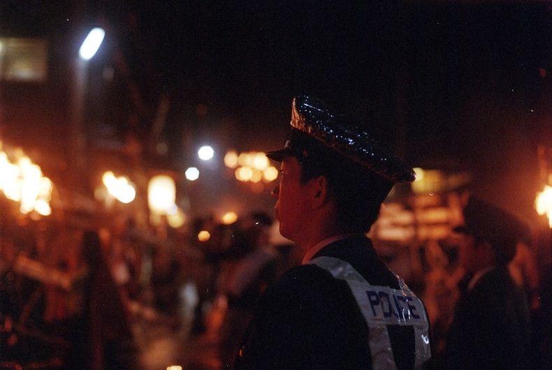 Trong lễ hội có rất nhiều cảnh sát được huy động