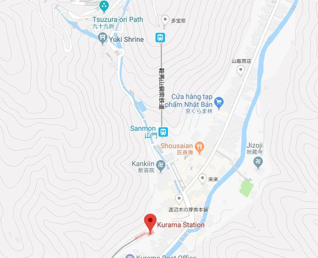Từ ga Kurama đến làng và đền Yuki