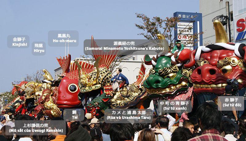 Các linh vật của lễ hội Karatsu Kunchi