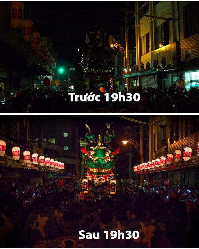Khoảng khắc trước và sau 19h30