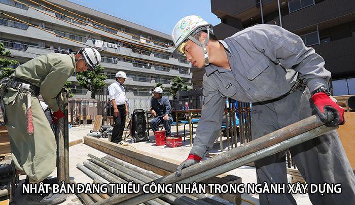 Thị trường lao động Nhật Bản đang cần nhiều công nhân xây dựng