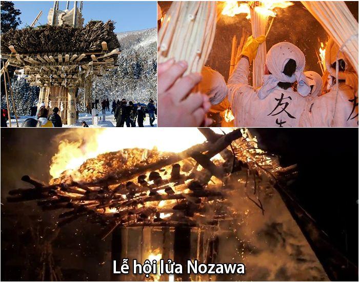 Lễ hội lửa Nozawa tại đền Kosuge