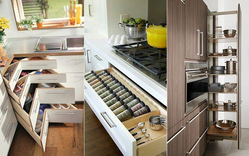 Tủ bếp thông minh, tiện dụng, tối ưu không gian phòng bếp