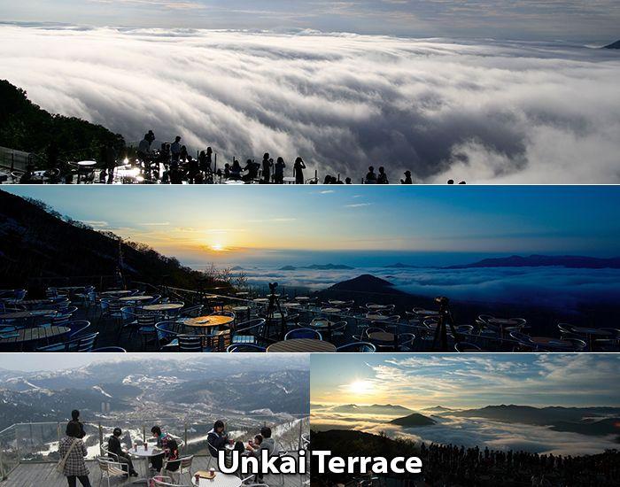 Ngắm biển mây ở đỉnh Unkai Terace,Nakatomamu, Shimukappu, Hokkaido