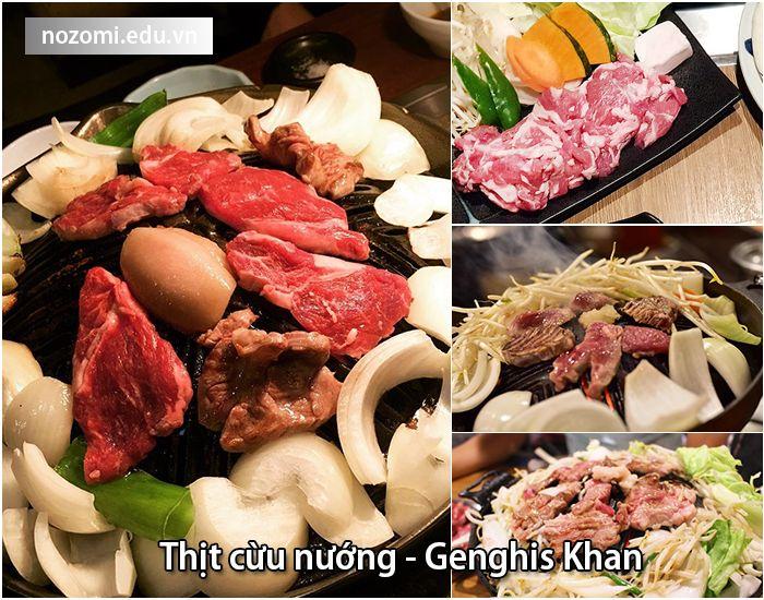 Món thịt cừu nướngGenghis Khan - đặc sản Sapporo