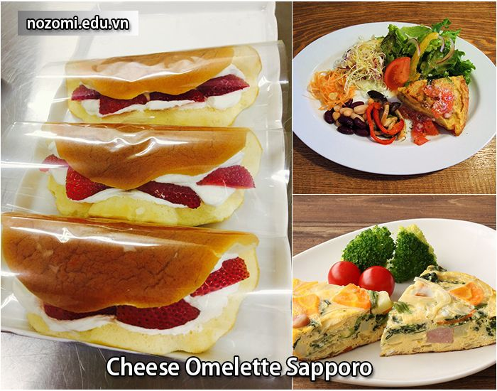 Bánh Cheese Omelette của Sapporo