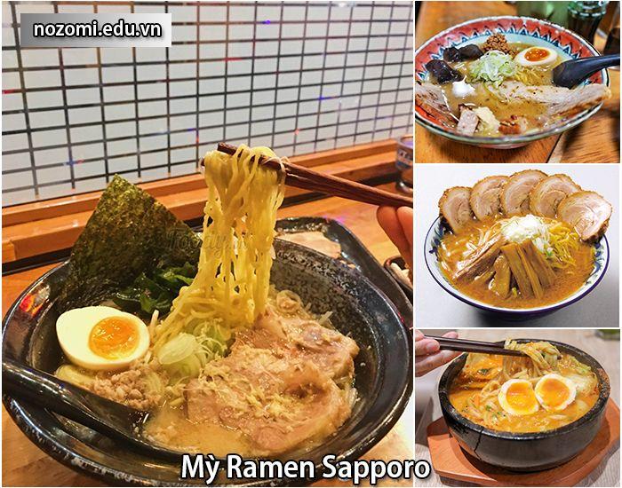 Mỳ Ramen Sapporo - món mỳ ngon nhất Nhật Bản