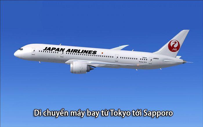 Đi máy bay từ Tokyo tới Sapporo nhanh nhất