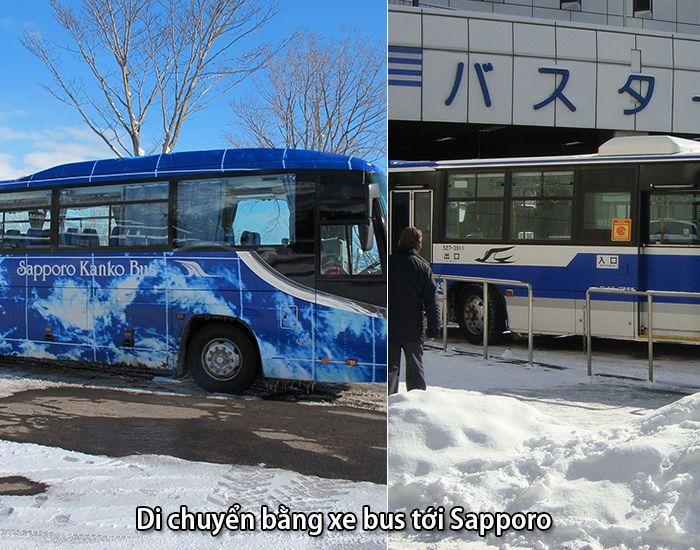 Xe bus từAomori hoặc sân bay Sapporo Chitose tới thành phố Sapporo