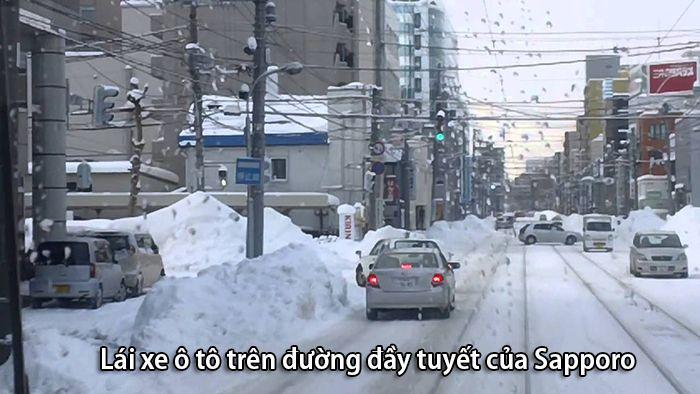 Đường phố Sapporo những ngày mùa đông