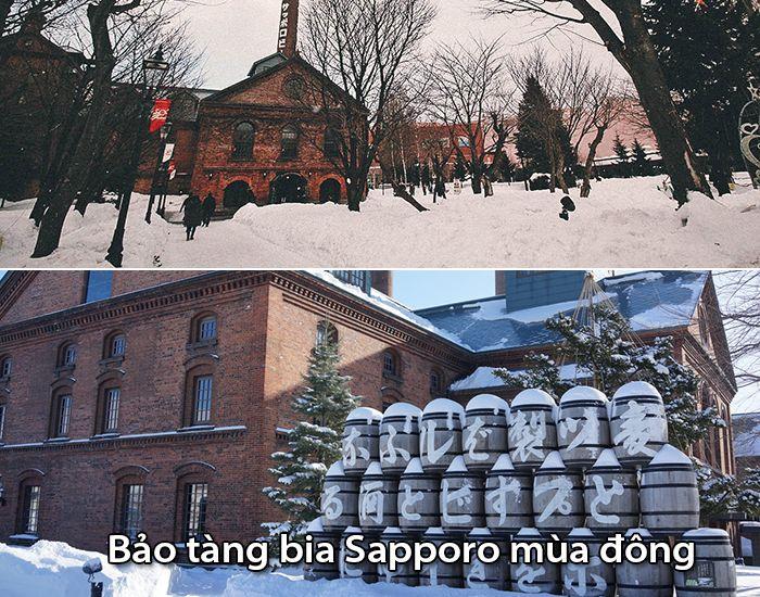 Bảo tàng bia Sapporo vào mùa đông