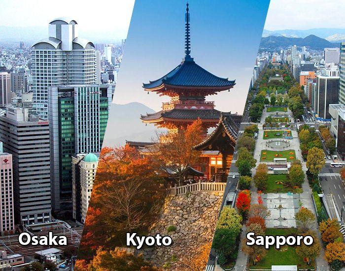 Osaka, Kyoto và Sapporo - 3 thành phố cấp chỉ định theo pháp lệnh của chính phủ