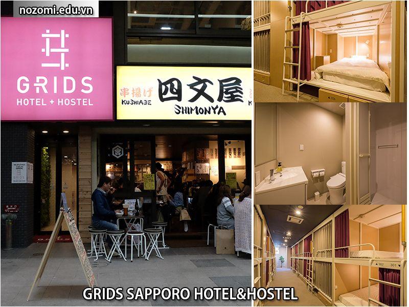 Nhà trọGrids Sapporo Hotel&Hostel