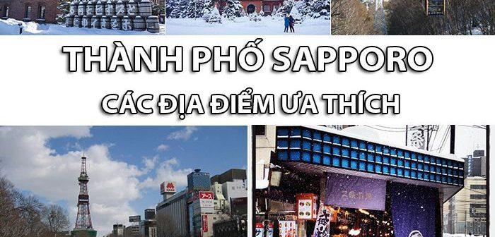 Thành phố Sapporo các địa điểm ưa thích ngày băng tuyết