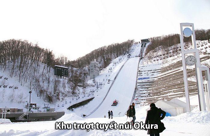 Khu trượt tuyết trên núi Okura