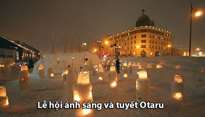 Cảnh đẹp tại lễ hội tuyết Otaru