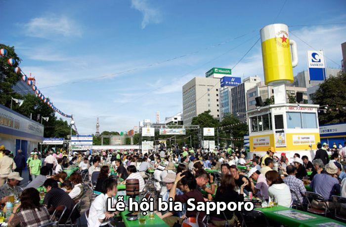 Lễ hội bia Sapporo vào những ngày hè nóng nhất