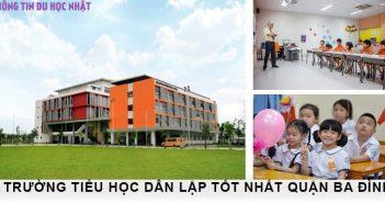 3 trường tiểu học dân lập tốt tại quận Ba Đình 4