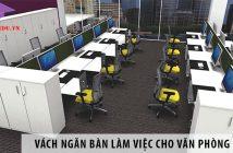 3 mẫu vách ngăn bàn làm việc cho văn phòng diện tích 60m2