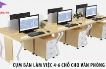 Mua cụm bàn làm việc 4 - 6 chỗ ngồi cho văn phòng 85m2