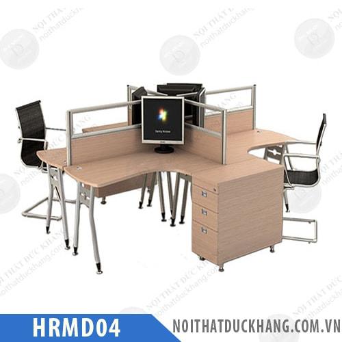 Cụm bàn làm việc 4 người ngồi HRMD04