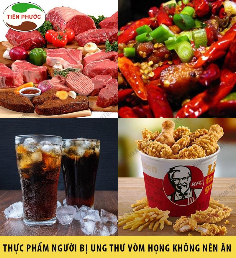 Những loại thức ăn mà người bị ung thư vòm họng nên kiêng